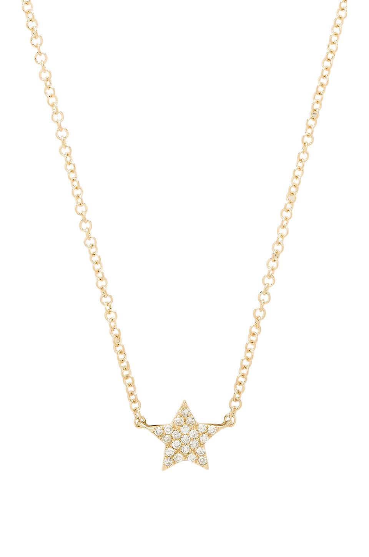 EF Collection Diamond Star Choker In Gold. in Metallic