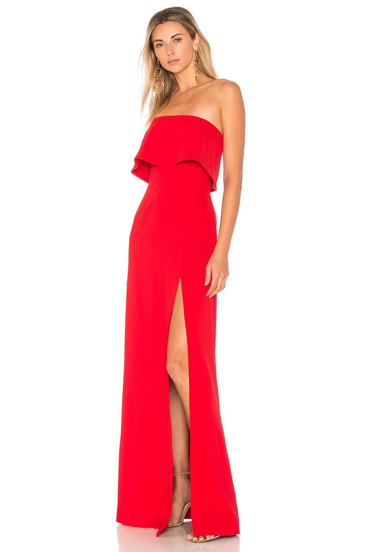 Lyst Lovers Friends X Revolve Anzen Gown In Red