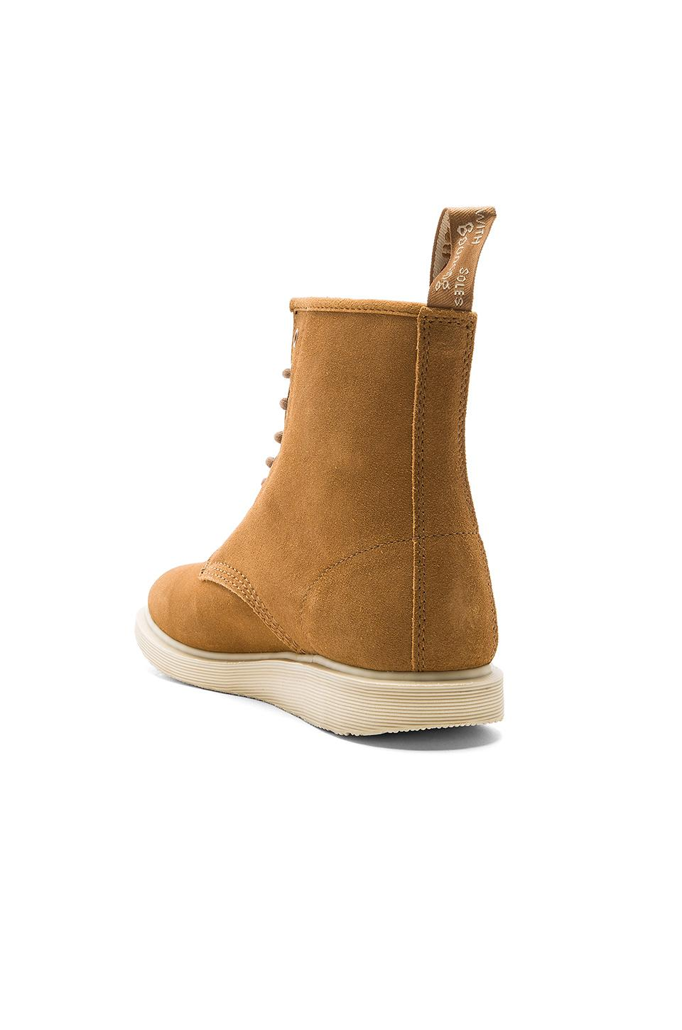 Dr. Martens Suede Whiton 8 Eye Boots in Brown