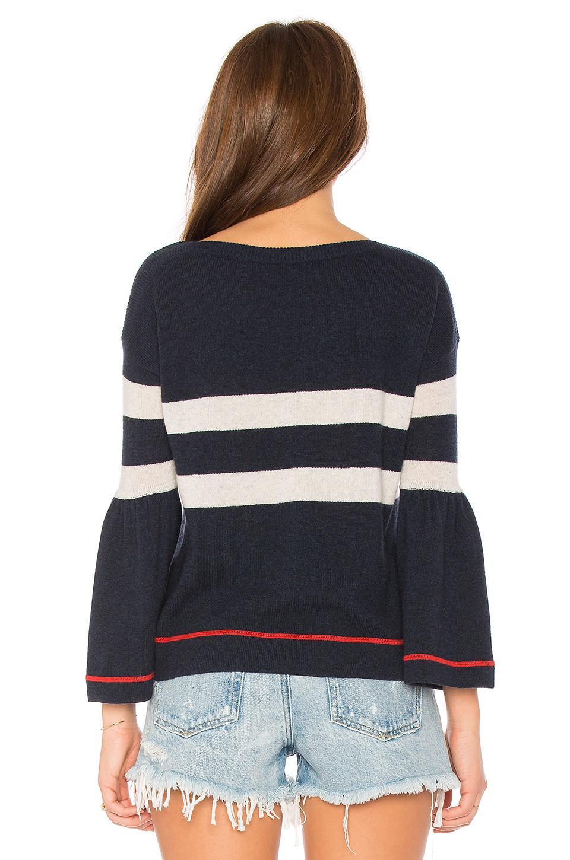 Autumn Cashmere Cashmere Striped Sweater in Blue