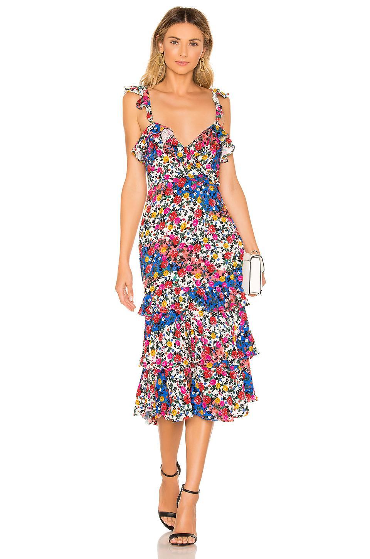 3d39a017fc1c0 Lyst - MAJORELLE Nolita Midi Dress in Blue
