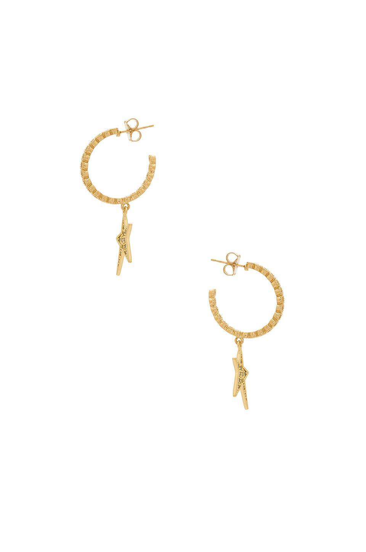 Shooting Star Earrings in Metallic Gold Joolz by Martha Calvo VdXcx