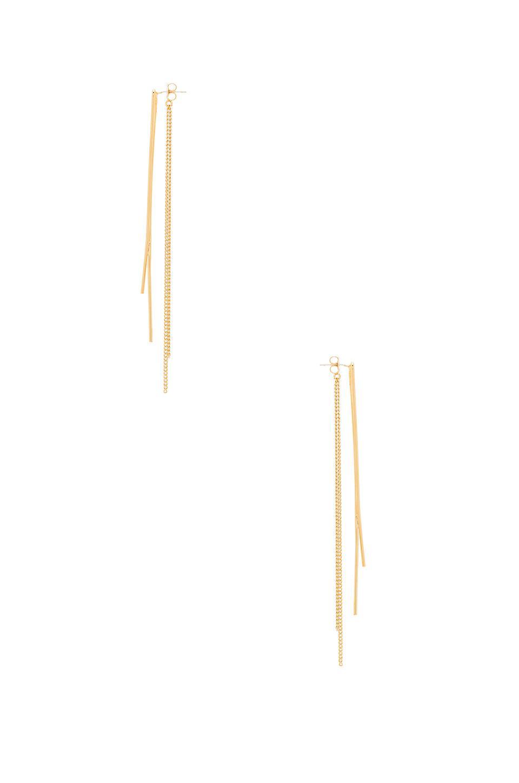 Joolz by Martha Calvo Crossover Chain Ear Jacket in Gold (Metallic)