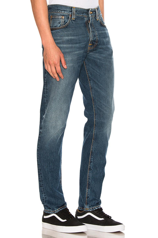 lyst nudie jeans fearless freddie in blue for men. Black Bedroom Furniture Sets. Home Design Ideas