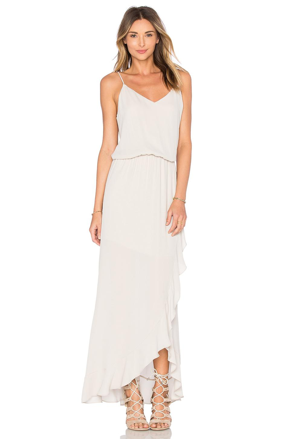 1b24e56471e Lyst - Krisa Ruffle Maxi Dress in White