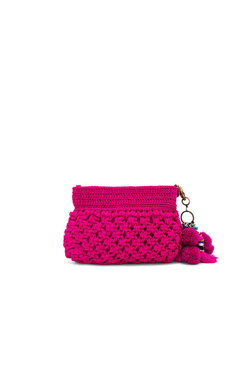 Elliot Mann Canvas Dune Eve Crossbody Bag in Magenta (Pink)