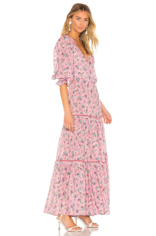Robe Stormi Coton LoveShackFancy en coloris Rose
