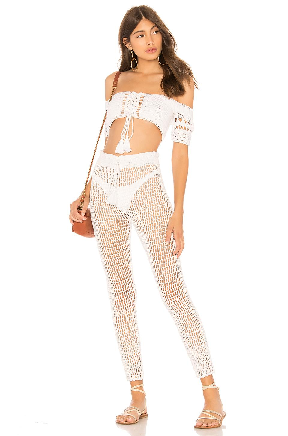 MAJORELLE Cotton Hilary Top in White