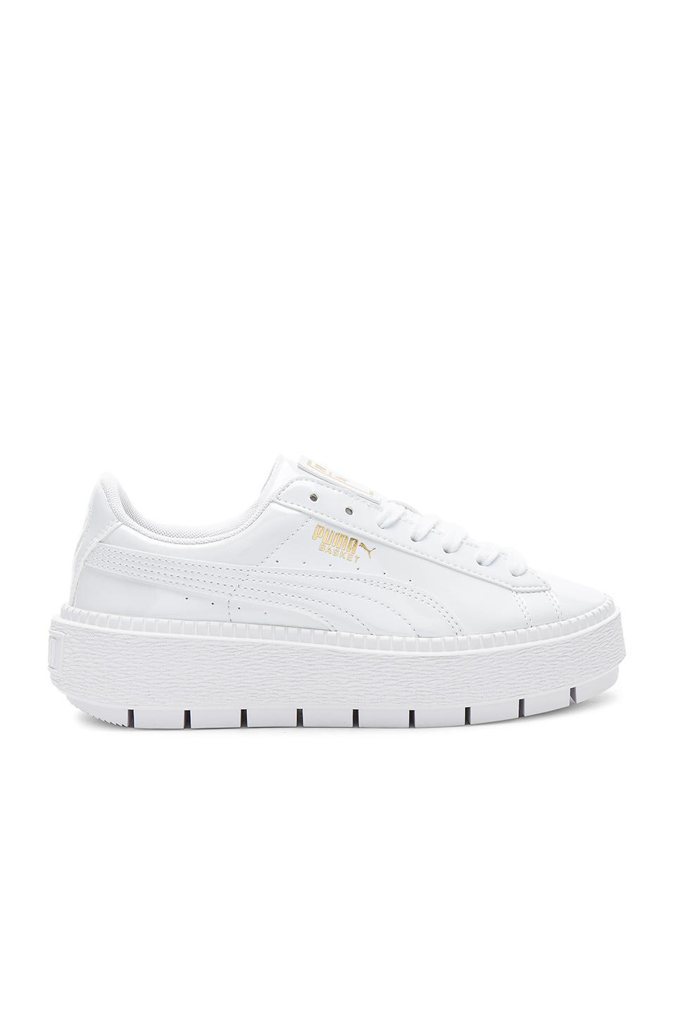 PUMA Basket Platform Trace Sneakers Metallic Gold Leather  cost charm 7660b  65f5e Gallery. Previously sold at REVOLVE · Womens Platform Sneakers ... f00582f05