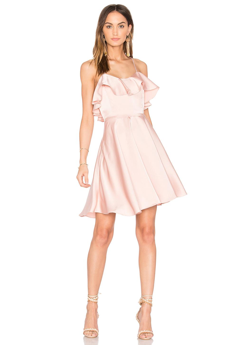 Lyst Endless Rose Ruffled Fit And Flare Dress In Pink