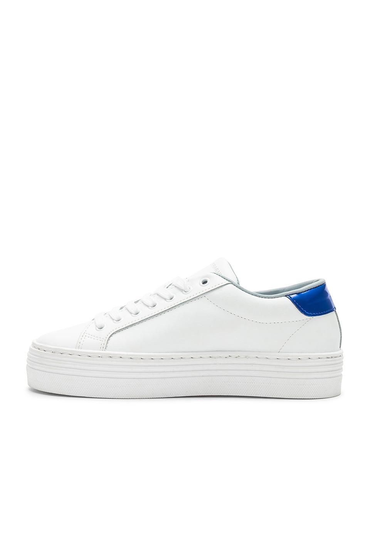 Chiara Ferragni Leather Suite Flames Sneakers in White Red (White)