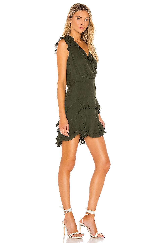 Vestido tangia Parker de Seda de color Verde