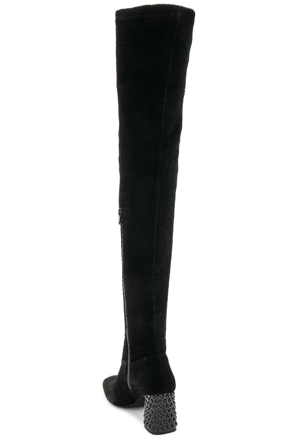 Jeffrey Campbell Velvet Cienega Boot in Black