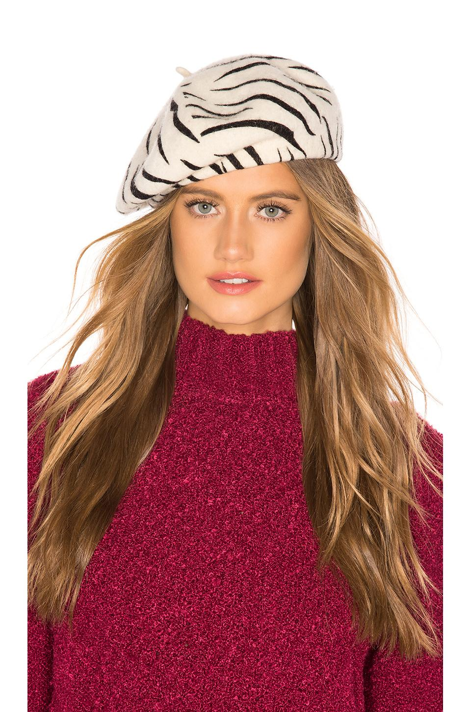 Lyst - Brixton Audrey Beret In White d5834b267bb3