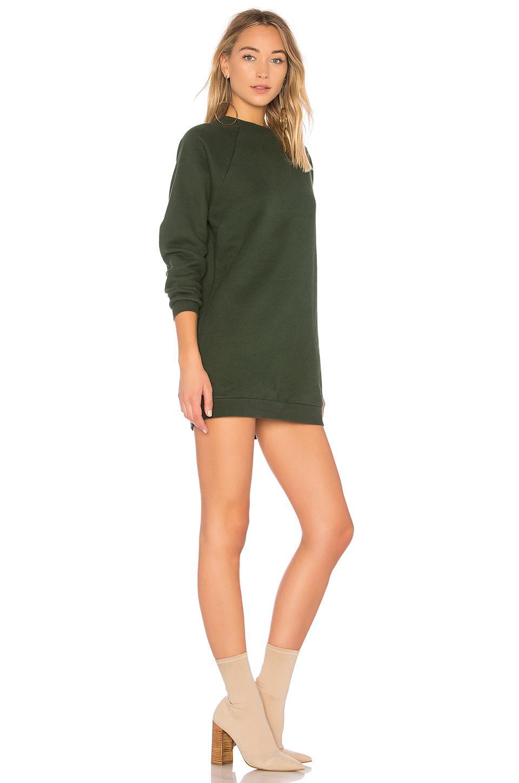 Lyst - Lovers + Friends Jenn Sweatshirt Dress in Green 233341bbb