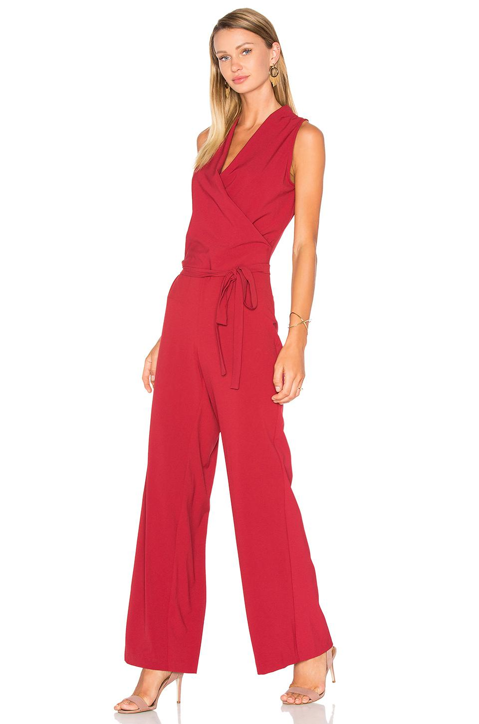 b7c82fcf3af0 Lyst - Cupcakes And Cashmere Margo Jumpsuit in Red