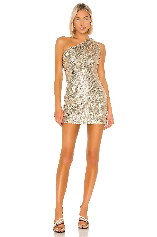 Rachel Zoe Synthetic Magda Dress in Light Gold (Metallic ...