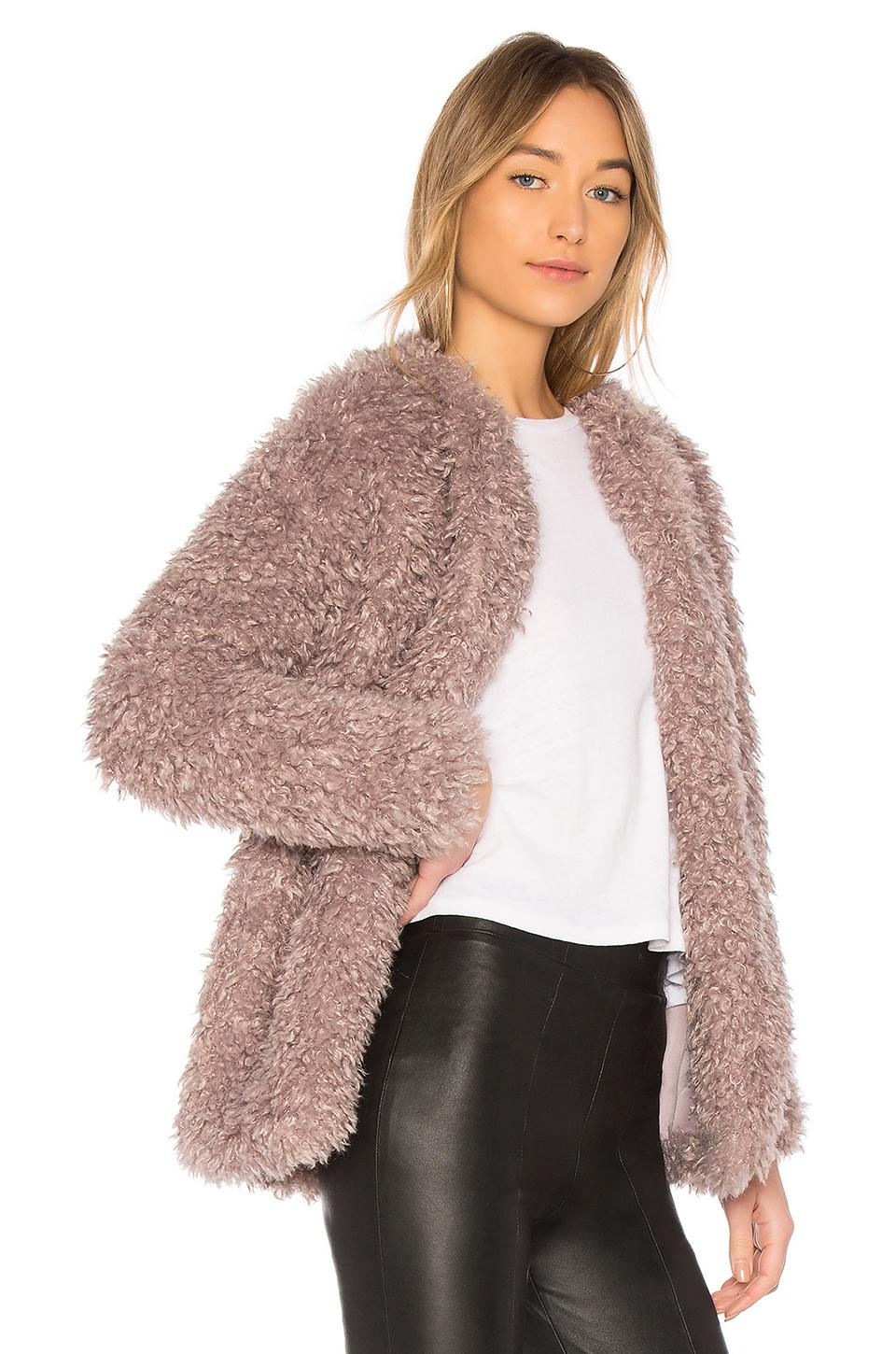 Endless Rose Faux Fur Jacket Lyst