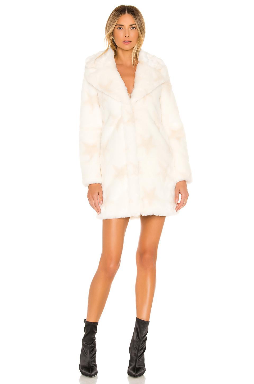 Abrigo piel sintética stellar Nbd de color Blanco