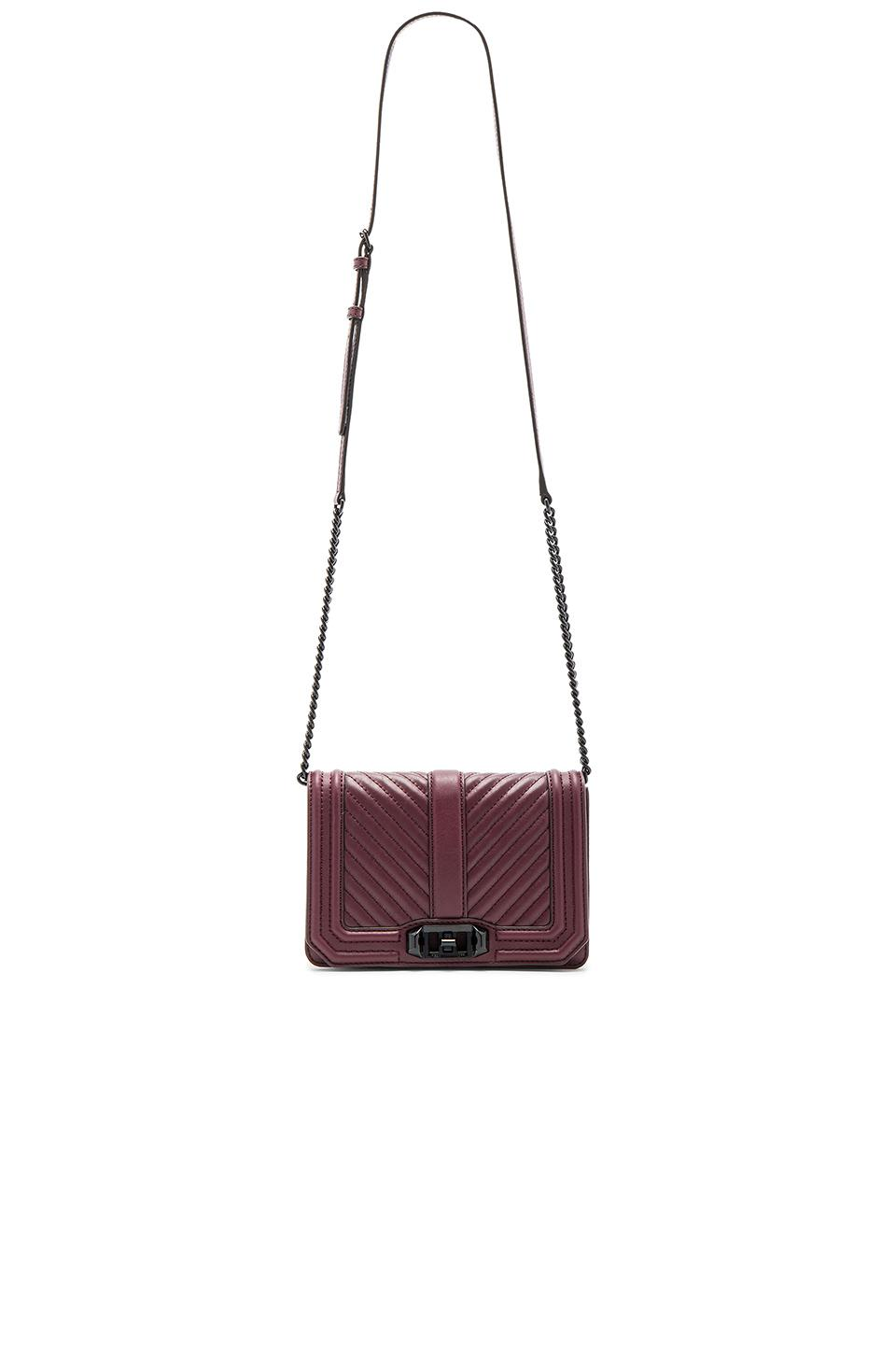 Rebecca Minkoff Chevron Quilted Small Love Leather Cross-Body Bag