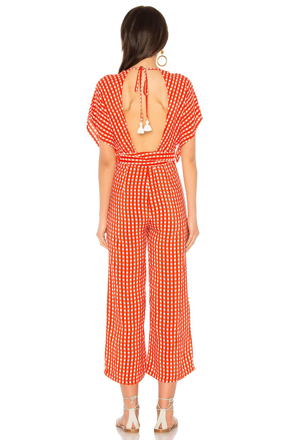 8e911c0c484 Faithfull The Brand Cedric Jumpsuit in Red - Lyst
