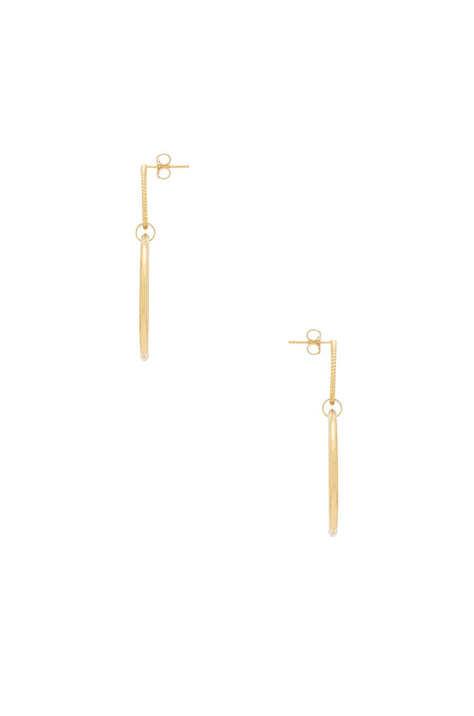 8 Other Reasons Ring Of Fire Earring In Metallic Gold.