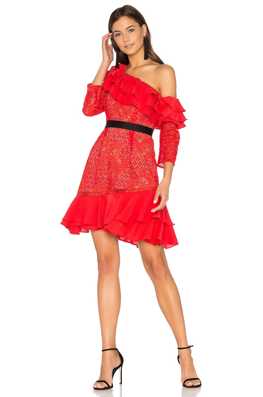 Lyst For Love Amp Lemons Chianti Off Shoulder Ruffle Dress
