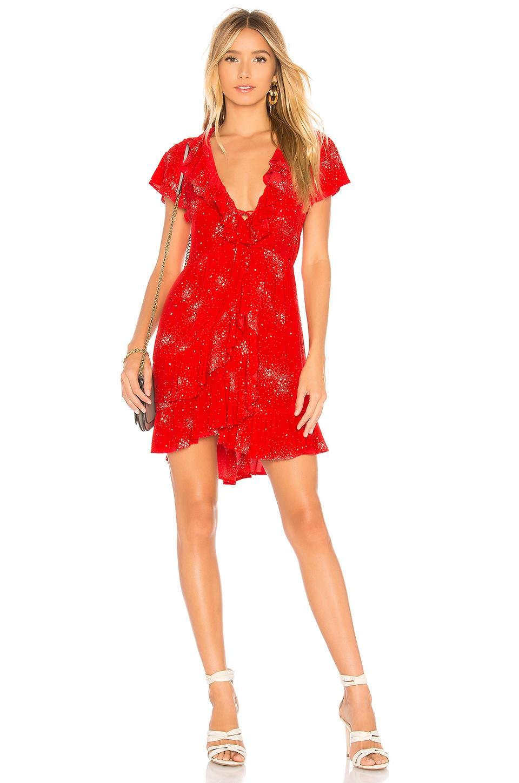 c75d6926c38e7 Auguste Red Celestial Grace Mini Dress