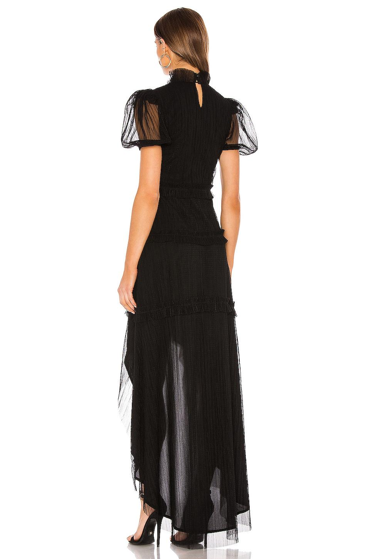 Vestido largo valentina Tularosa de Tejido sintético de color Negro