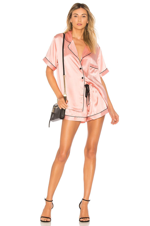 1779305025 Kisskill Silk Short Pajama Set in Pink - Lyst