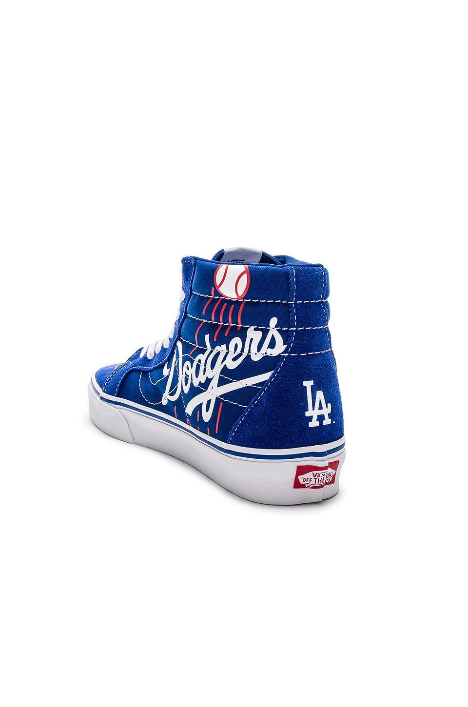 a85a81a2c7 Vans - Blue Sk8-hi Reissue Dodgers for Men - Lyst. View fullscreen