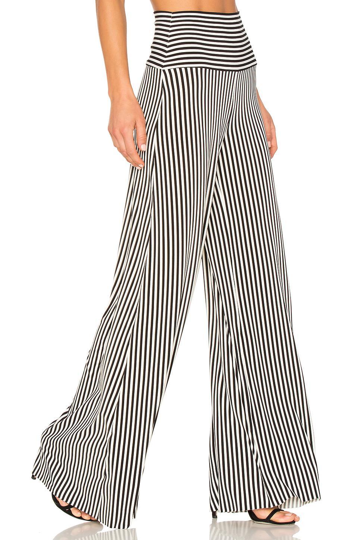 488bb4cf0 Lyst - Norma Kamali Vertical Stripe Elephant Pant in Black