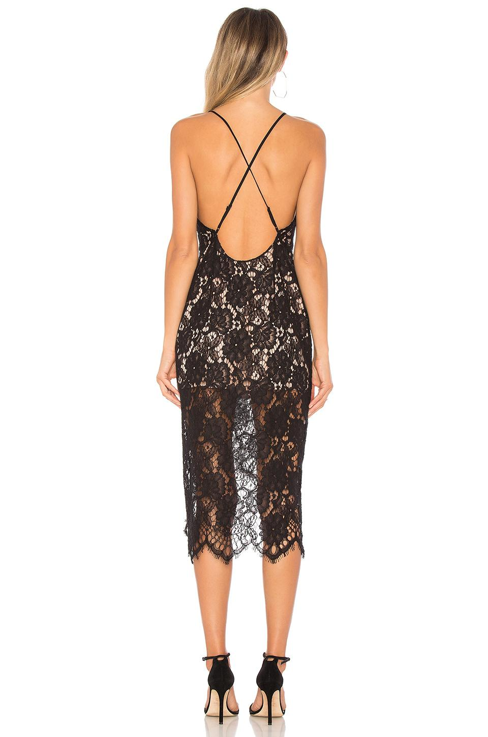 X by NBD Trace Dress in Black & Gold