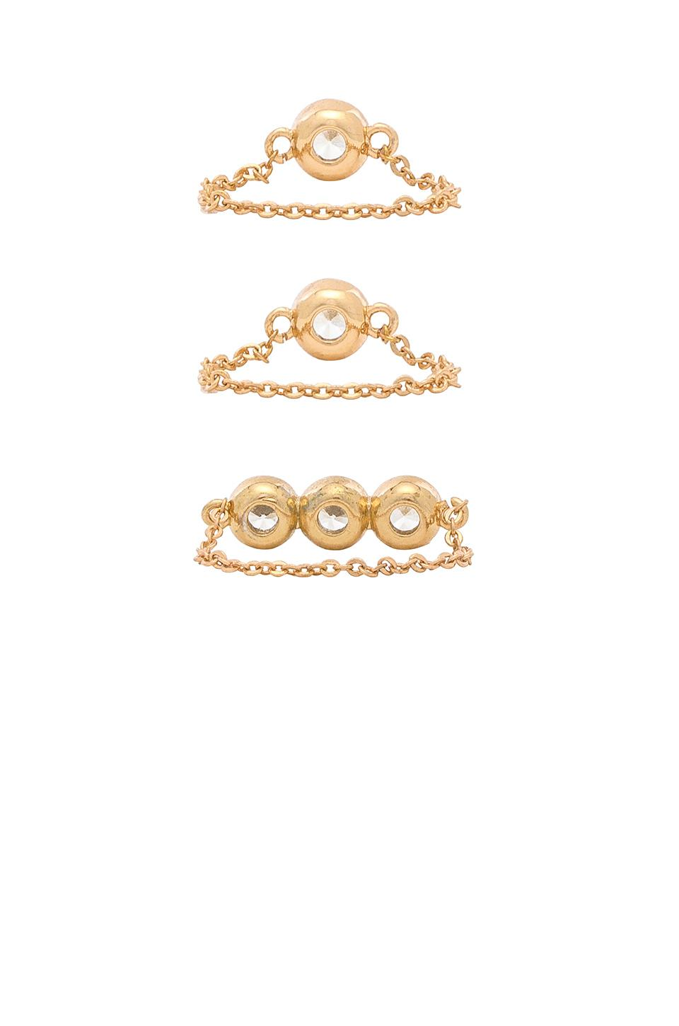 Frasier Sterling Final Touch Ring Trio in Gold (Metallic)