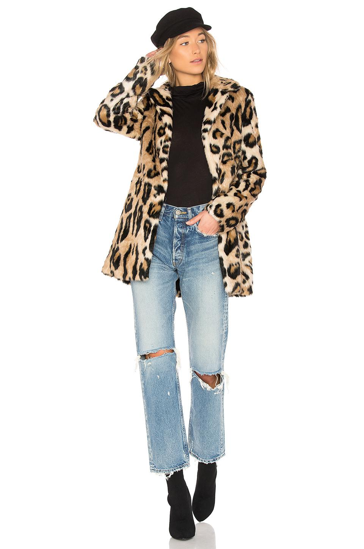32a0e7c54a08 Bardot Faux Fur Coat - Lyst