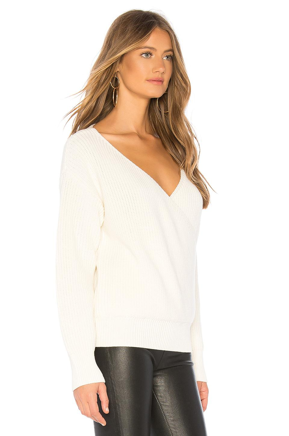 69dced6dfdf25 Lyst - Callahan Agnes Wrap Sweater in White