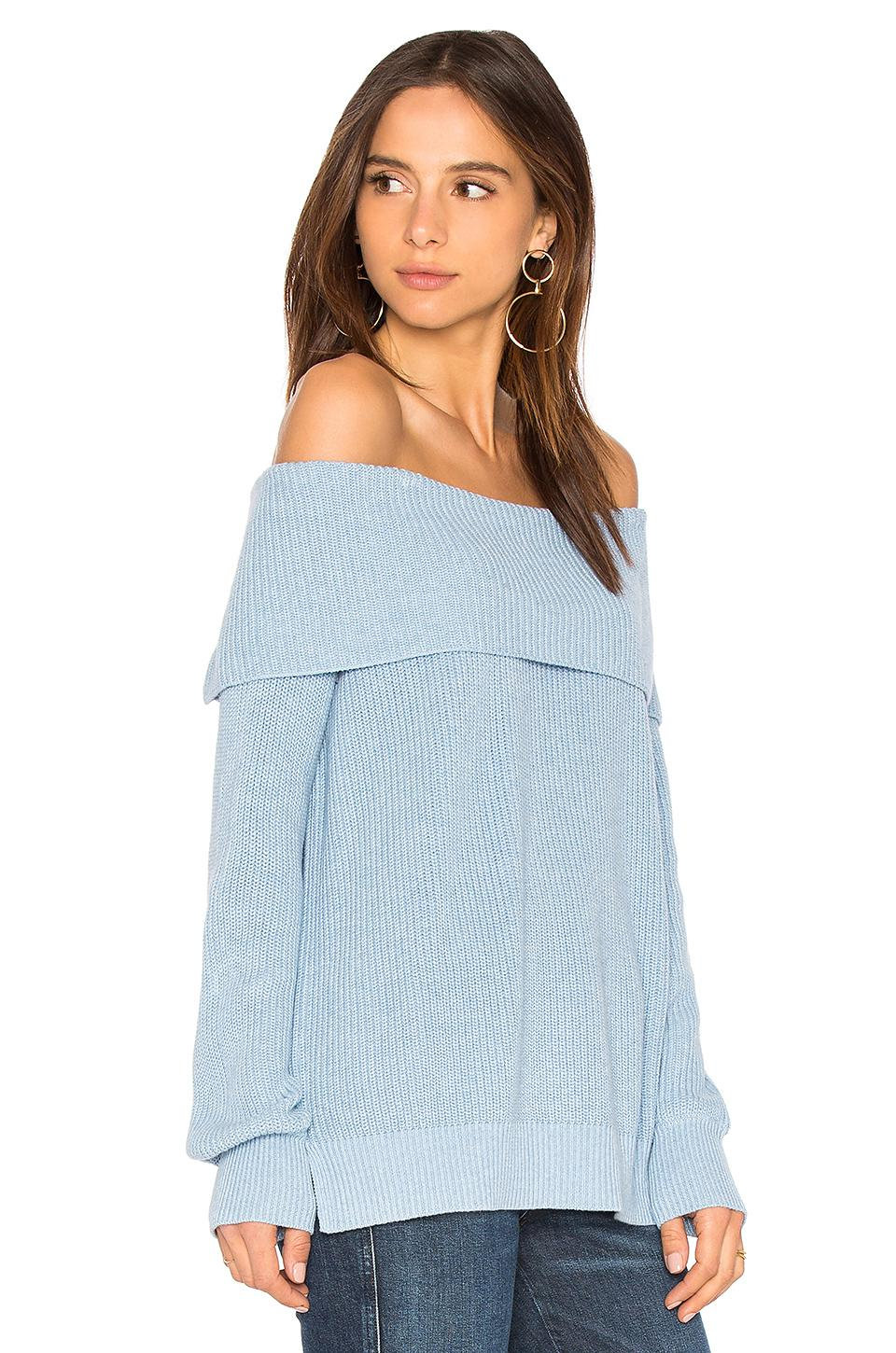 525 america Off Shoulder Sweater in Blue | Lyst