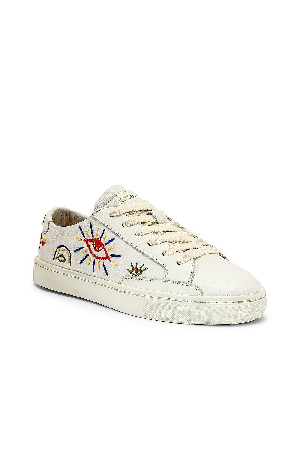 Soludos Leather Ibiza Look Sneaker in