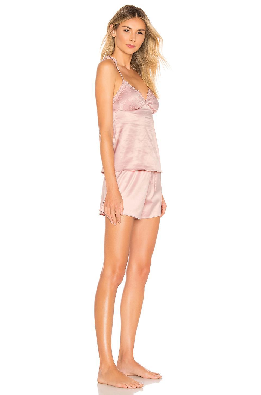 484d0e162cd Homebodii - Pink Short Piping Pyjama Set - Lyst. View fullscreen