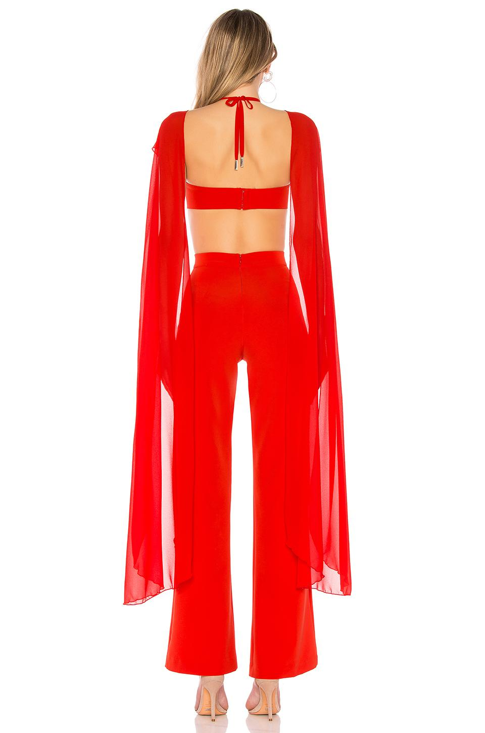 5ba7cde5e8d Lyst - Michael Costello X Revolve Megan Jumpsuit in Red