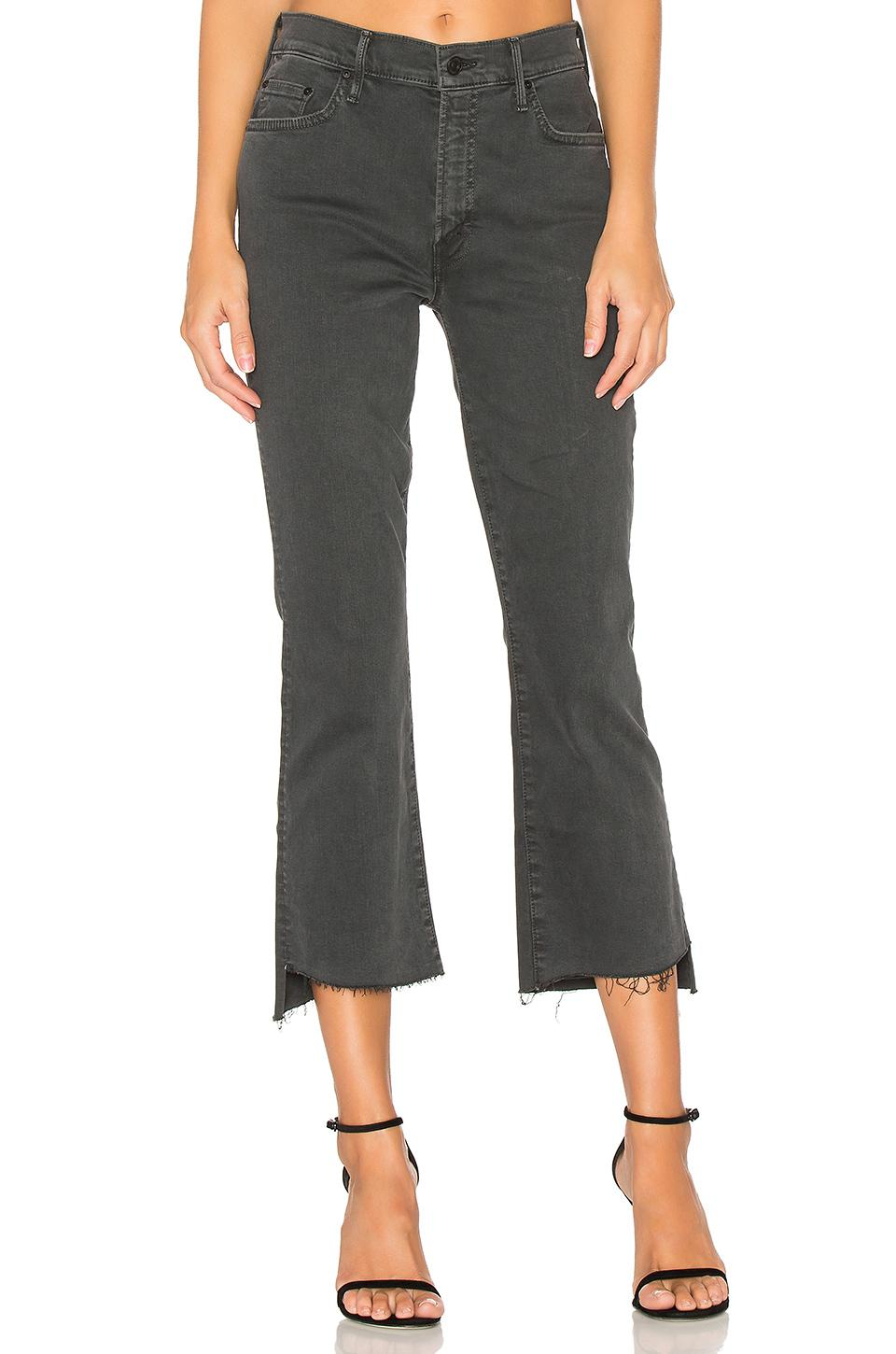 Mother The Insider Crop Step Fray In Black - Lyst-7375