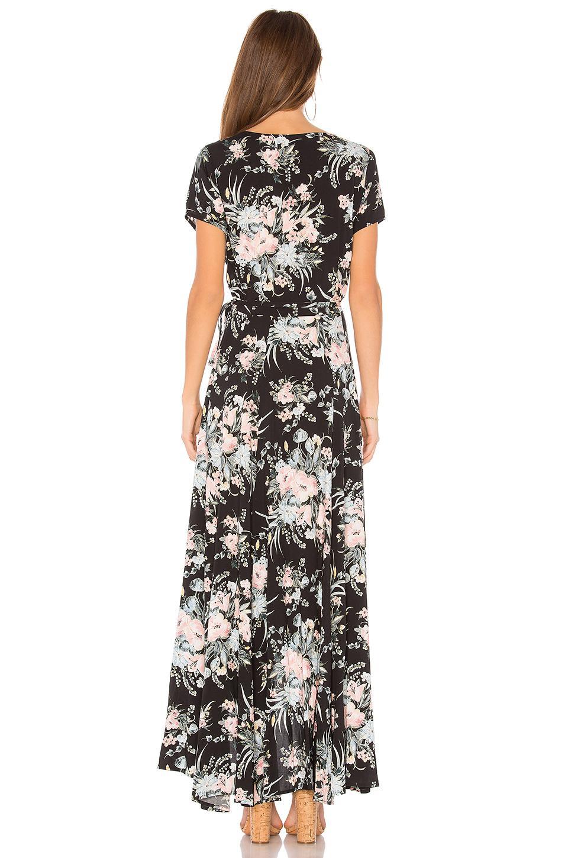 eb404f347ff1 Auguste Scarlett Wrap Maxi Dress in Black - Lyst