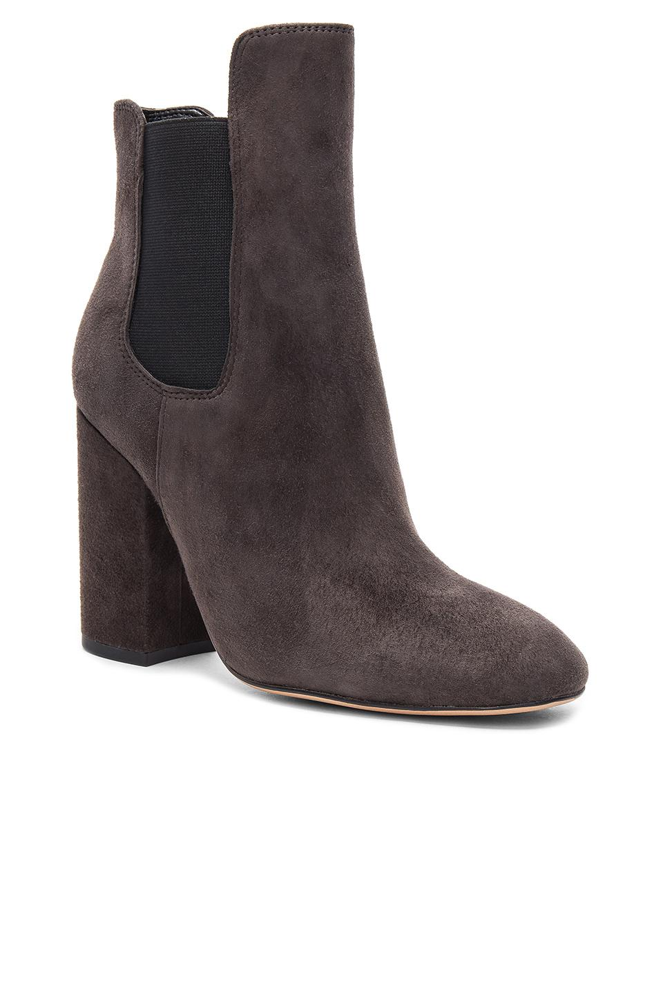 Tony Bianco Suede Avla Bootie in Brown