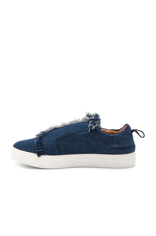 Jaggar Denim Fray Slip On Sneakers in Denim (Blue)