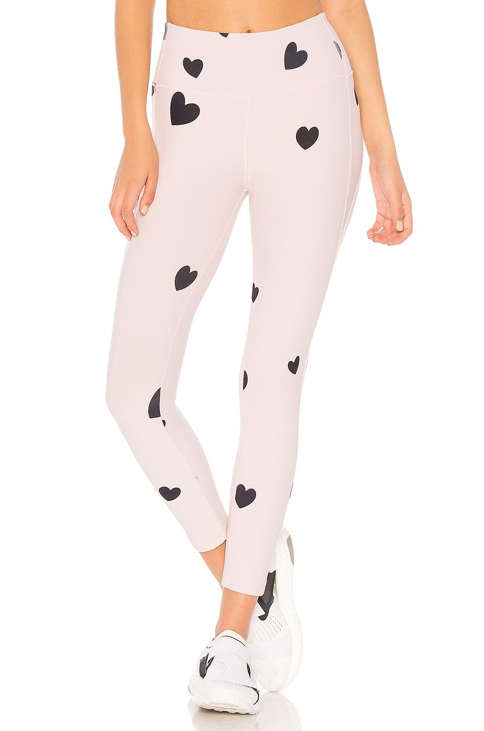 df96028cd8dc11 Lyst - Monrow Scattered Hearts Legging in Pink