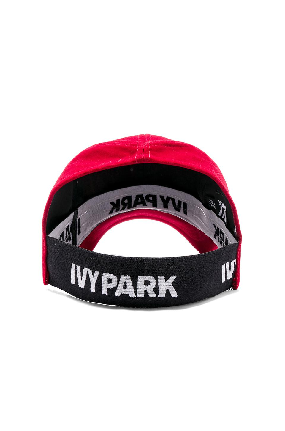 Ivy Park Backless Running Cap In Red Lyst