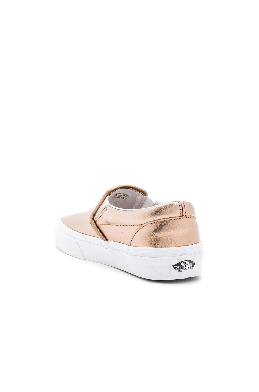 Vans Leather Classic Slip On Sneaker in White