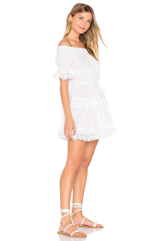 White agnes long shirt dress