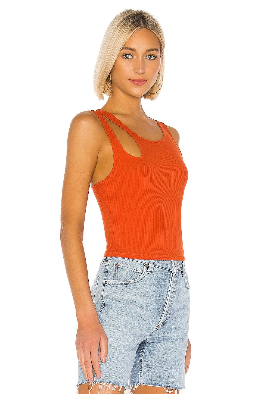 Camiseta tirantes lizzy Lovers + Friends de Algodón de color Naranja