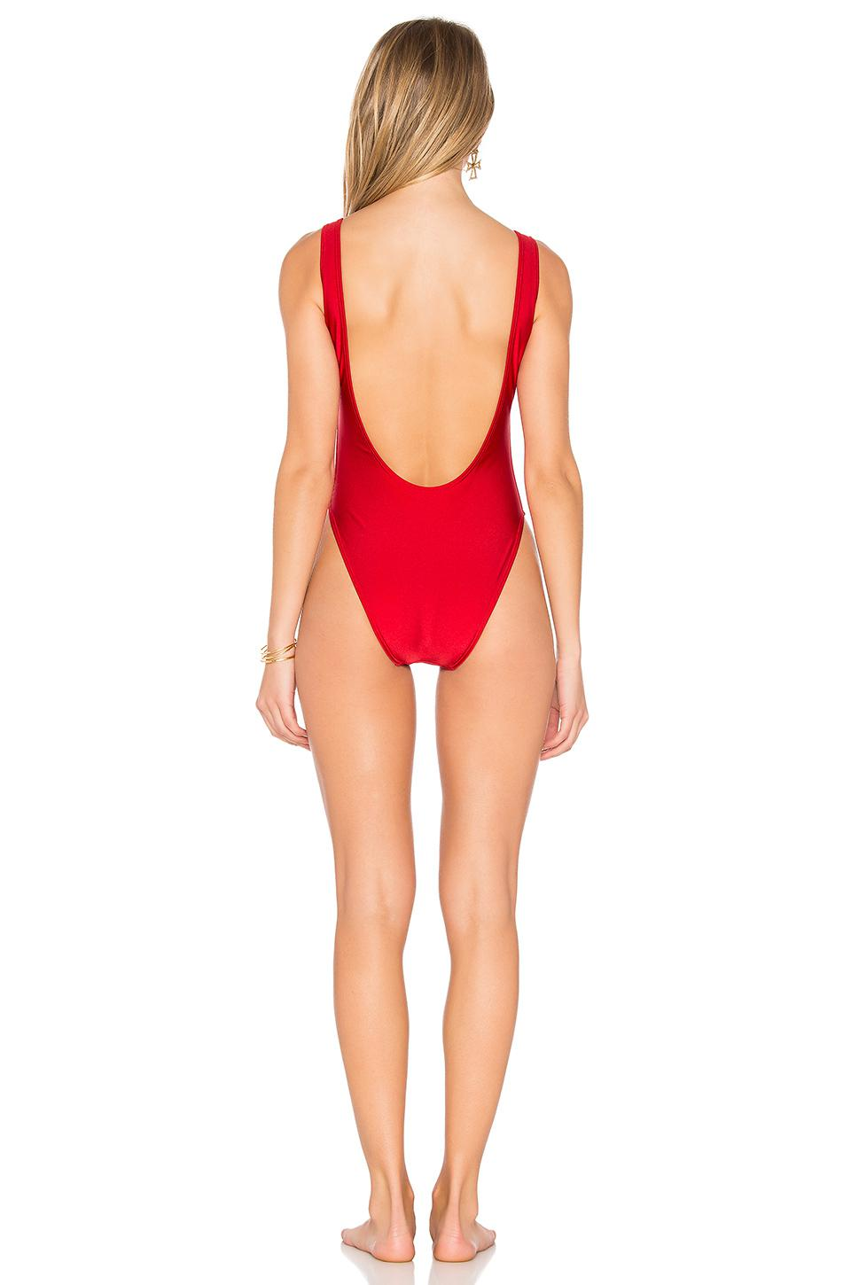 0e291e910d Lyst - Private Party Lit One Piece Swimsuit in Red